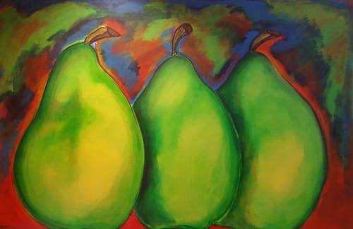 original art in Washington DC - pears